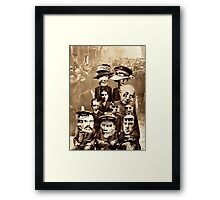 Family of Modern Day Futurists. Framed Print