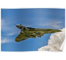Avro Vulcan B.2 XH558 G-VLCN flypast Poster