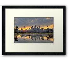 Angkor Wat Dawn Framed Print