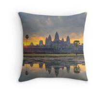 Angkor Wat Dawn Throw Pillow