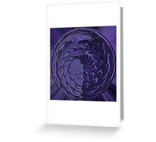 Purple Fern Bubble Greeting Card