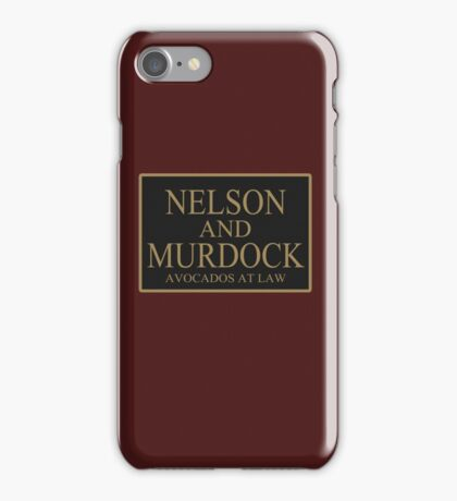 NELSON AND MURDOCK AVOCADOS AT LAW iPhone Case/Skin