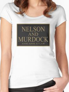 NELSON AND MURDOCK AVOCADOS AT LAW Women's Fitted Scoop T-Shirt