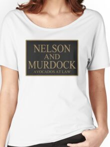 NELSON AND MURDOCK AVOCADOS AT LAW Women's Relaxed Fit T-Shirt