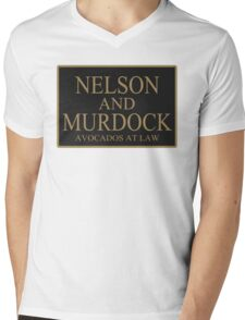 NELSON AND MURDOCK AVOCADOS AT LAW Mens V-Neck T-Shirt