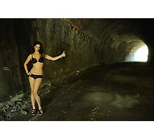 Stacey - hitchhiker Photographic Print