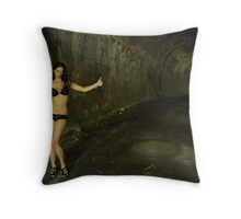 Stacey - hitchhiker Throw Pillow