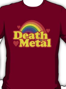 Funny Death Metal Rainbow (vintage distressed look) T-Shirt
