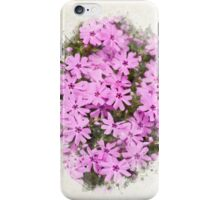 Phlox Flowers Watercolor Art iPhone Case/Skin