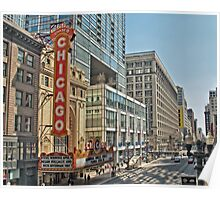 Chicago Theatre Street  Poster