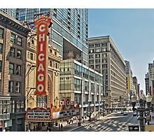 Chicago Theatre Street  Photographic Print