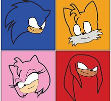 Sonic Pop Art by Abbie Lowe