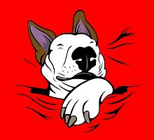 Snug As A Dug Bull Terrier Red by Sookiesooker