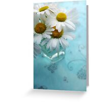 Daisies on a blue background Greeting Card