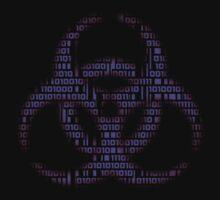 Binary Biohazard (Purple) T-Shirt