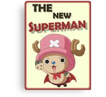 One Piece Chopper Superman Canvas Print