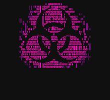 Binary Biohazard Symbol (Pink) Unisex T-Shirt