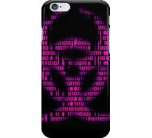 Binary Biohazard (Pink) iPhone Case/Skin