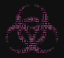 Binary Biohazard (Pink) T-Shirt