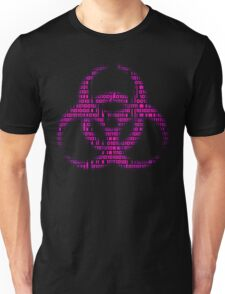 Binary Biohazard (Pink) Unisex T-Shirt