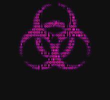 Binary Biohazard (Pink) Unisex T-Shirt