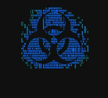 Binary Biohazard Symbol (Blue) Unisex T-Shirt