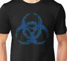 Binary Biohazard (Blue) Unisex T-Shirt