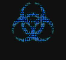 Binary Biohazard (Blue) Unisex T-Shirt