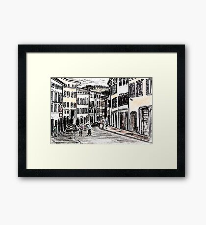 Italian Streets Framed Print