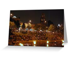 Fire on the Water Greeting Card
