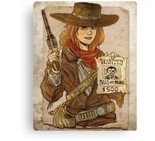 Wanted Dead Canvas Print