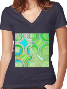 wild abstract Women's Fitted V-Neck T-Shirt