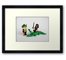 Jack Sparrow and Davy Jones Framed Print