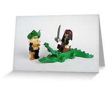 Jack Sparrow and Davy Jones Greeting Card