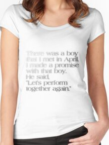 Let's Perform Together Again Women's Fitted Scoop T-Shirt