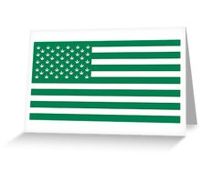 Weed American Flag Greeting Card