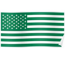 Weed American Flag Poster