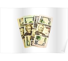 USA Presidents dollar bills Poster