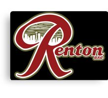 Renton USA Black Background Canvas Print