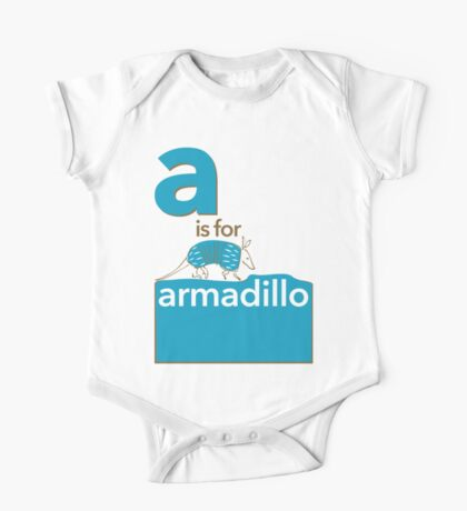 A is for Armadillo One Piece - Short Sleeve