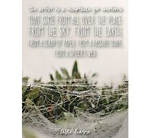 Spider's Web Pablo Picasso Quote  Photographic Print