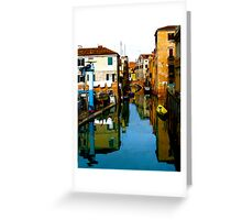 REFLECTIVE VENICE Greeting Card