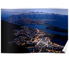 Queenstown by Night Poster