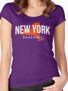 New York Baseball Women's Fitted Scoop T-Shirt