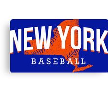New York Baseball Canvas Print