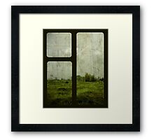 The Gloom Grows Green. Framed Print