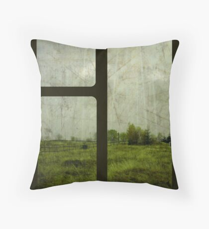 The Gloom Grows Green. Throw Pillow