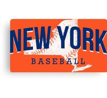 New York Baseball 2 Canvas Print