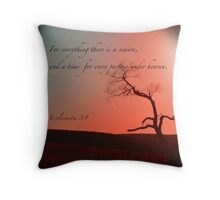 For Everything There Is A Season Throw Pillow