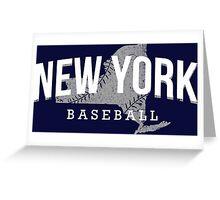 New York Baseball 3 Greeting Card